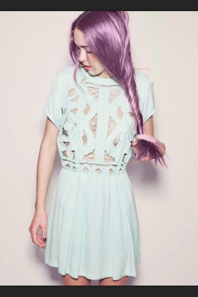 dress summer pale hipster blue pastel spring grunge