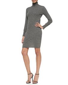 Sleeve turtleneck dress