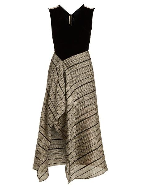 Roland Mouret dress sleeveless dress sleeveless silver black