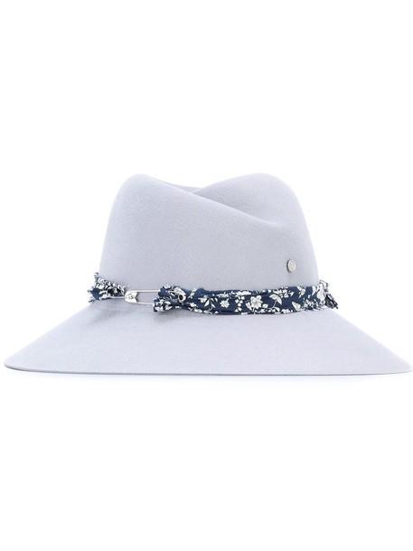 hat floral grey