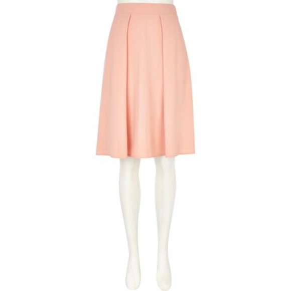 skirt midi skirt orange light orange midi skirt light orange