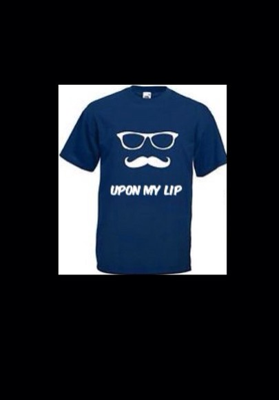 shirt blue shirt fashion tshirts white moustaches blue tshirt men's wear style newlook cheap similar