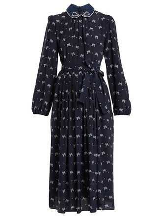 dress navy print