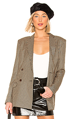 Capulet Dylan Double Breasted Blazer in Houndstooth from Revolve.com