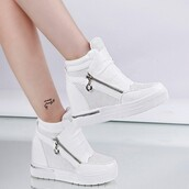 shoes,causal shoes,zipper shoes,fashion shoes,increasing shoes,white shoes,wedges,white boots,wedge sneakers,adidas,adidas shoes