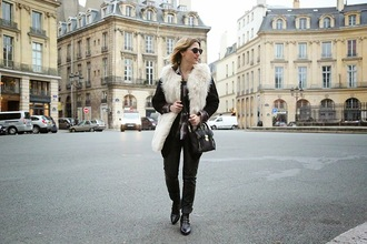 you make fashion blogger leggings faux fur vest