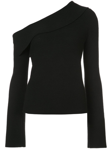 theory top knitted top women black