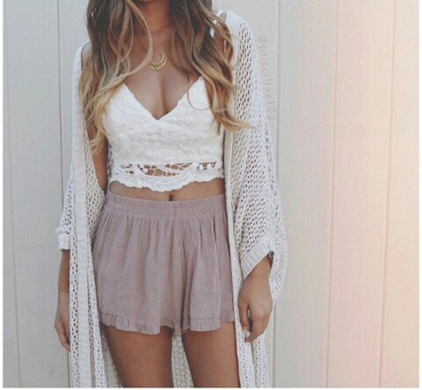 cardigan shorts crop tops white top shirt skirt tank top