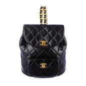bag,black,leather,mini backpack,chanel