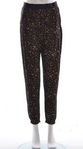 jeans,ladies leopard trouser legging brown