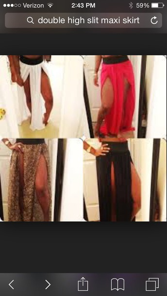 skirt double slit skirt stretchy affordable