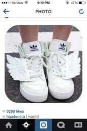 shoes,white,sneakers,wings,adidas wings