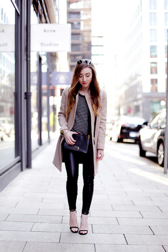flirting with fashion blogger coat pants sweater shoes bag sunglasses