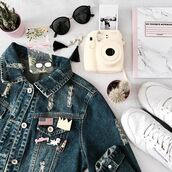 home accessory,yeah bunny,pins,pink,accessories,iphone case,iphone cover,polaroid camera,notebook,denim jacket,Reebok,cactus