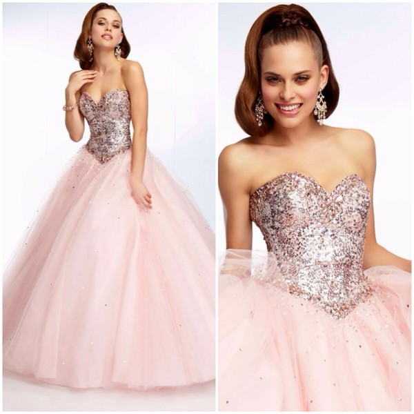 dress prom dress pink pink dress glitter dress glitter paparazzi quinceanera dress