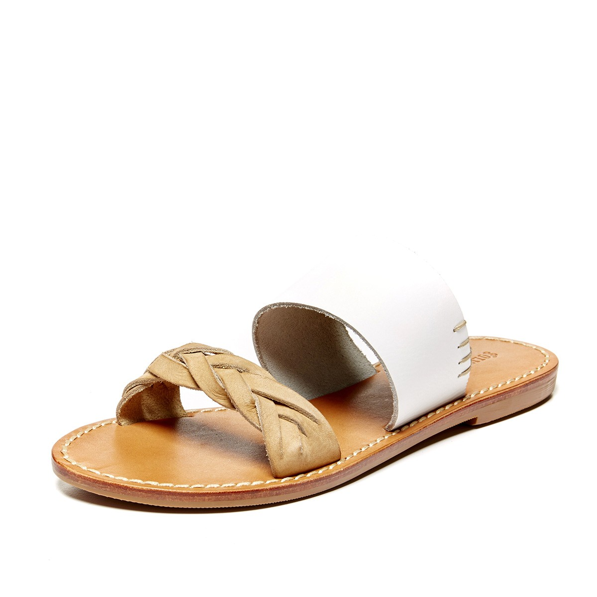 921ebacf908d Soludos White Braided Slide Sandal - Soludos Espadrilles