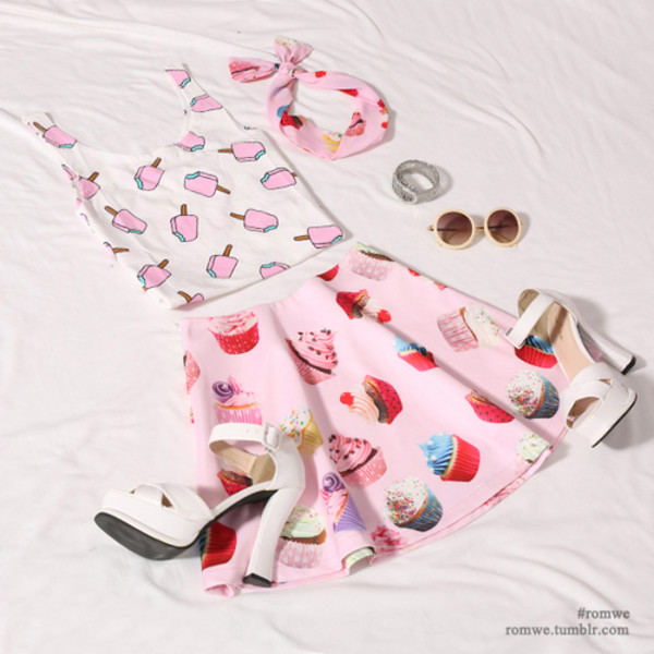 ice cream candy cupcake skirt sunglasses hair accessory