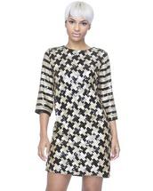 dress,shift dress,sequins,sequin dress,gold dress