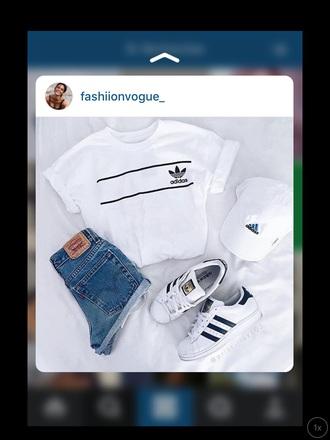 t-shirt adidas white basic
