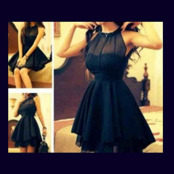 cute dress navy blue