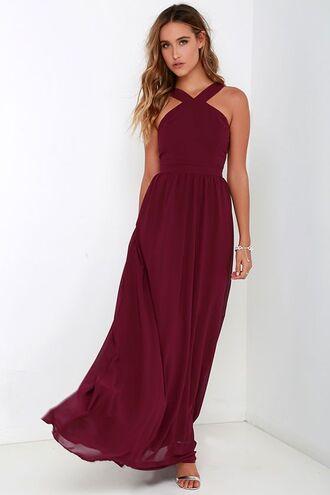 dress burgundy dress prom dress