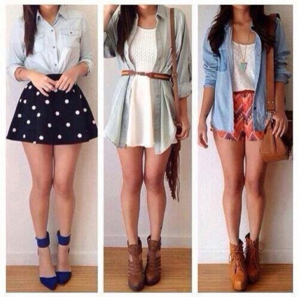 blouse skirt jacket shoes dress shirt shorts