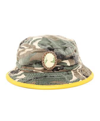 Embellished Camouflage Bucket Hat