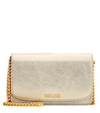 bag shoulder bag leather gold