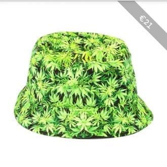 hat swag bob hat weed weed print