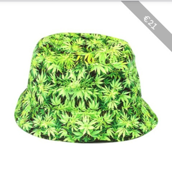 9868682dbbc All Over Green Mary Jane Weed Bucket Hat at Amazon Men s Clothing store