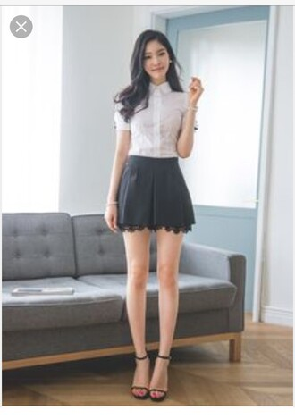 skirt navy mini skirt black skirt