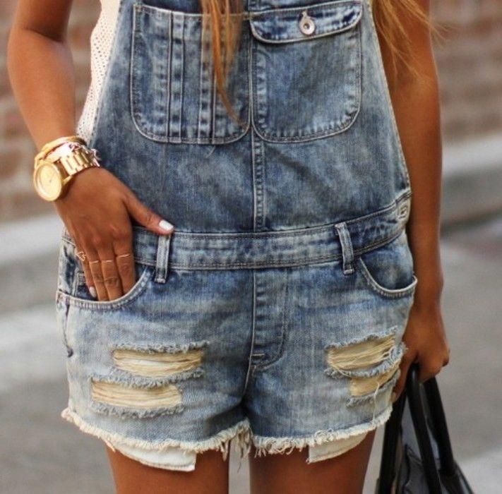 Zara new 2014 blue dungaree playsuit shorts jean overalls denim medium 12 blogs