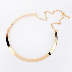 Online Shop 6pcs/lot Curved Gold Mirrored Metal Alloy Choker Collar Thin Torque Necklace Punk Style Chain Bib Collar Statement Necklet|Aliexpress Mobile