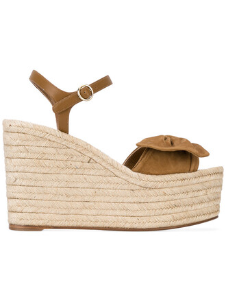 bow tropical women sandals espadrilles leather nude suede shoes