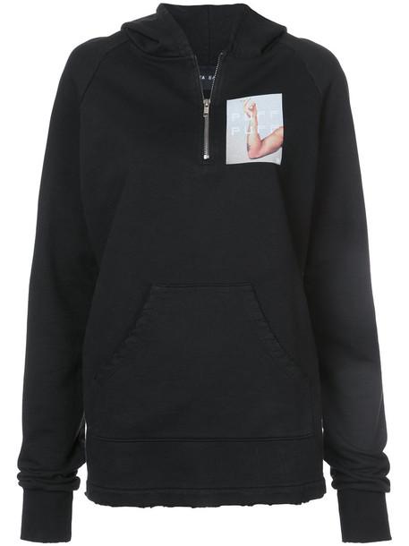 Baja East hoodie women cotton black sweater