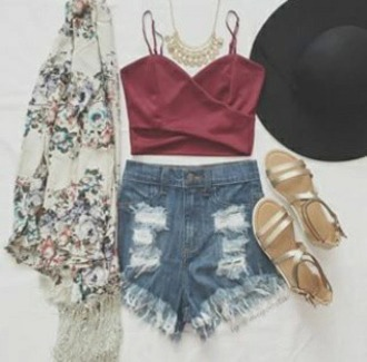 top crop tops pretty spring fashion cute criss cross front burgundy