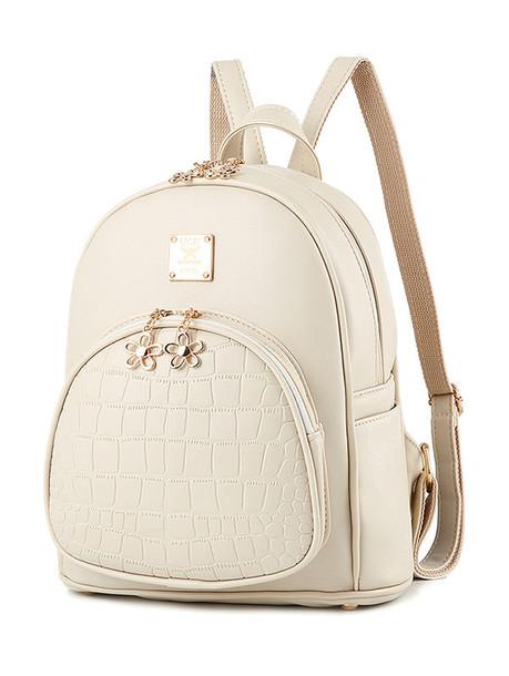 6f15b0794f bag white nude fashion cream back to school backpack zaful