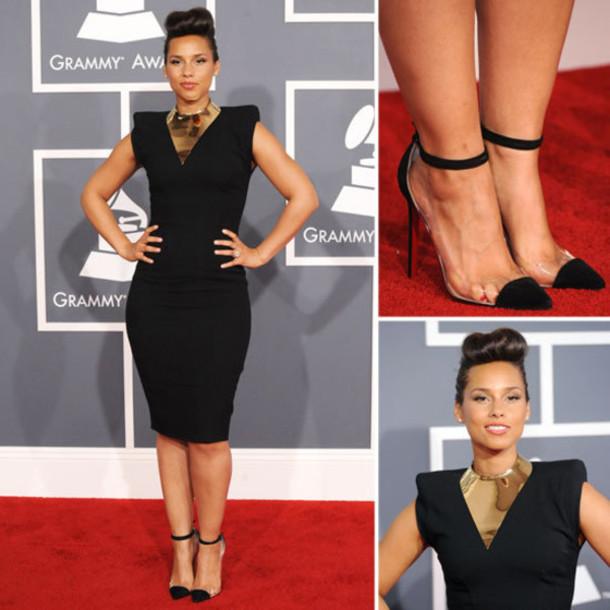 shoes heels cap toe black cap toe heel red carpet high heels clear little black dress dress