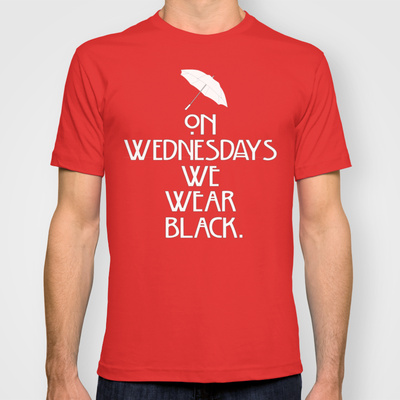 On Wednesdays We Wear Black. American Horror Story T-shirt by Zharaoh  | Society6