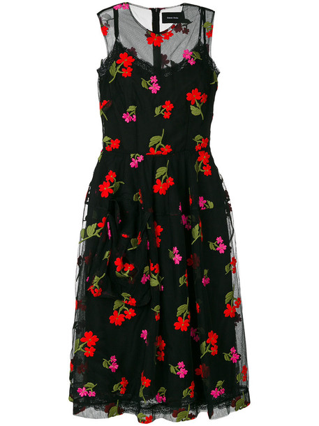 Simone Rocha dress embroidered dress embroidered women floral cotton black