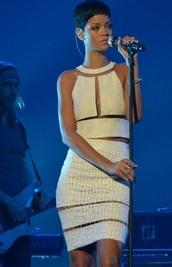 dress,white dress,rihanna