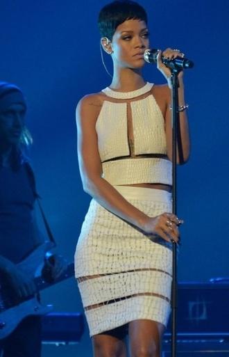 dress white dress rihanna