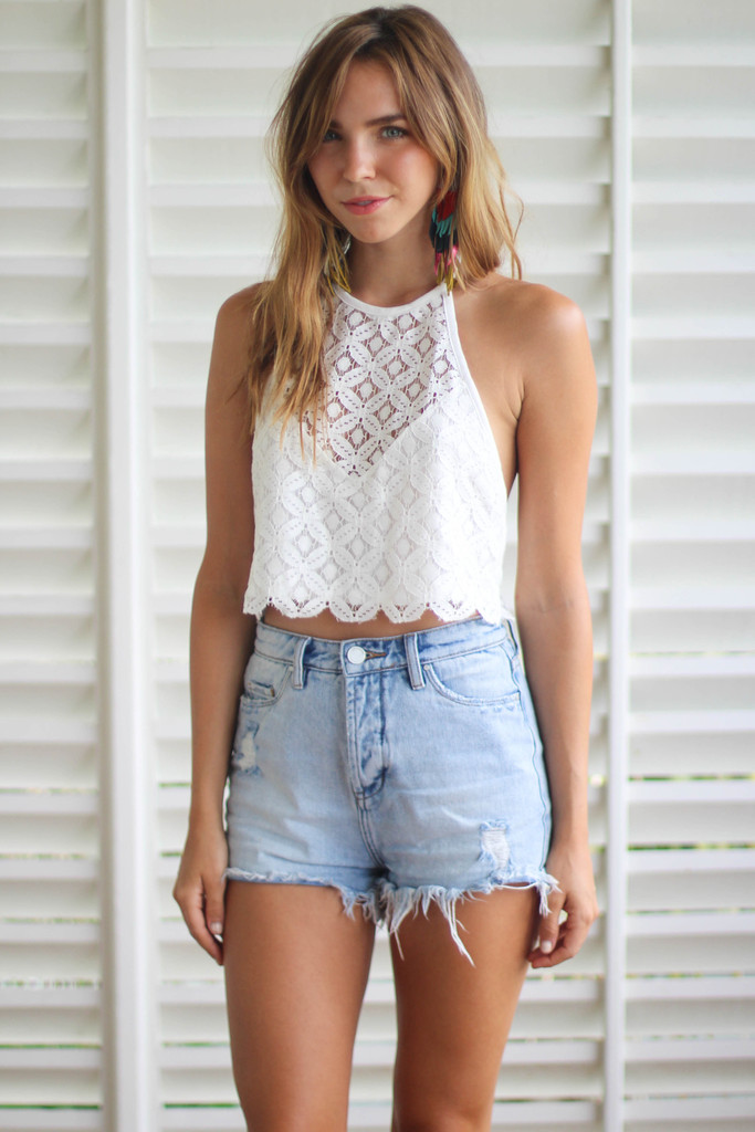High Rise Jean Shorts - The Else