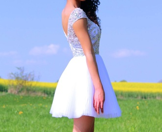 dress white dress beautiful short dress diamond dress white short dress confirmation