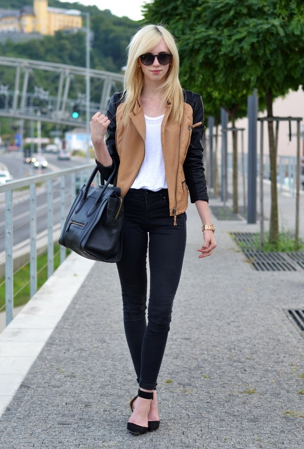 vogue haus t-shirt jacket shoes sunglasses jewels bag