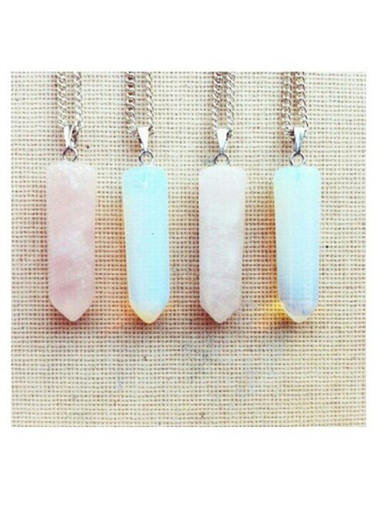 jewels chain necklace fashion crystal quartz neon long