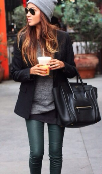 green pants leather pants leather