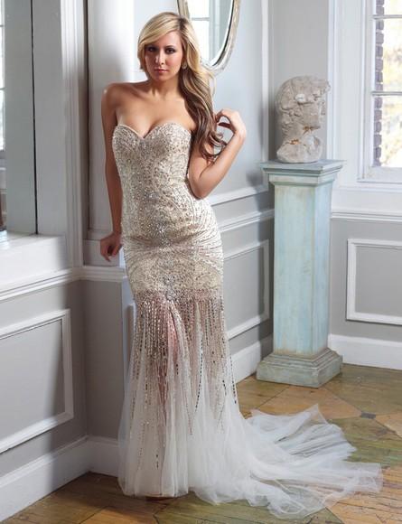 evening dress celebrity dress beading dress luxury dress full beading dress tulle design dress hot dress hot dress, strapless dress,