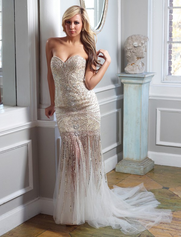 red carpet evening dress luxury dress beaded dress full beading dress tulle design dress hot dress strapless dress dress