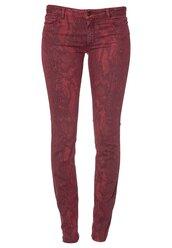 python,red,bel air,slim,pants